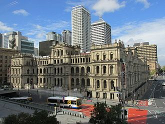 Treasury Building, Brisbane - William Street facade completed in the first stage, 2014
