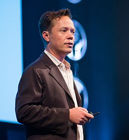 Brock Pierce at the SingularityU The Netherlands Summit 2016 (29033319263) (cropped).jpg