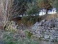Broken wall by path to Greenside Reservoir - geograph.org.uk - 682441.jpg
