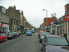 Straßenzug in Broughty Ferry
