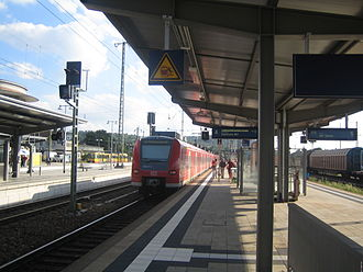 Mannheim–Karlsruhe–Basel railway - Bruchsal station