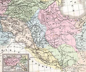 Mapa de Mesopotamia y alrededores