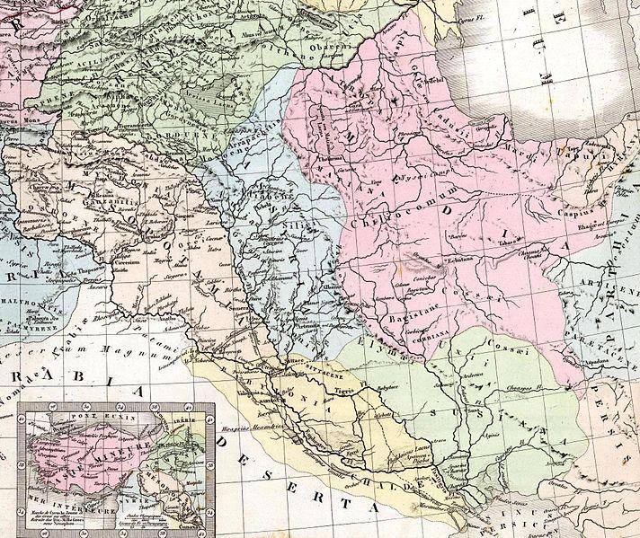 Archivo:Brue, A H ; Levasseur, E 1875 Asie Mineure, Armenie, Syrie, Mesopotamie (O).jpg