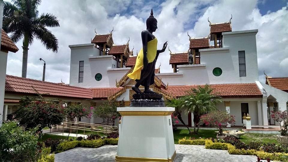 Buddha statue at Wat Buddharangsi Buddhist Temple of Miami