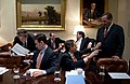 Budget meeting in the Roosevelt Room February 2009.JPG