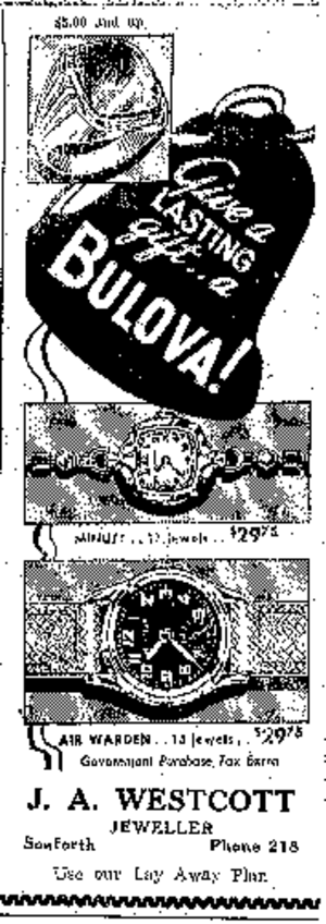 Bulova - December 1942 ad for Bulova watches from Canada.
