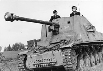 Marder II - A Marder II (Sd.Kfz. 131) in the USSR, 1943.