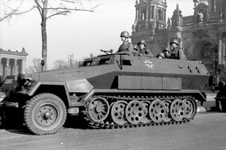 Sd.Kfz. 251 - Sd.Kfz. 251/1 Ausf. A armored car. Unter den Linden, Berlin, 1 January 1940