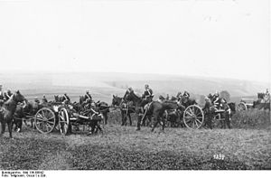 Action at Néry - German horse artillery on manoeuvres, pre-war