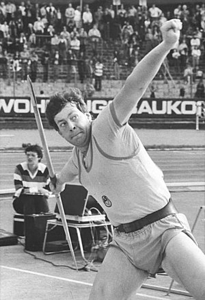 Friendship Games - Uwe Hohn won the gold medal in javelin throw