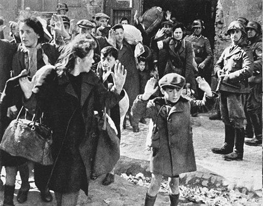 Bundesarchiv Bild 183-41636-0002, Warschauer Ghetto-Aufstand, Verhaftungen