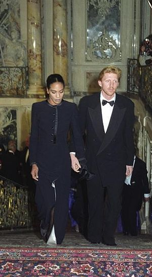 Boris Becker - Becker with Barbara Feltus in 1992