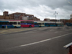 Buses in Middlesbrough bus station 5 may 2009 pic 1.JPG