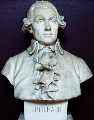 Jean Baptiste Treilhard - Buste de Jean-Baptiste Treilhard -- Salle du serment du jeu de paume -- Versailles