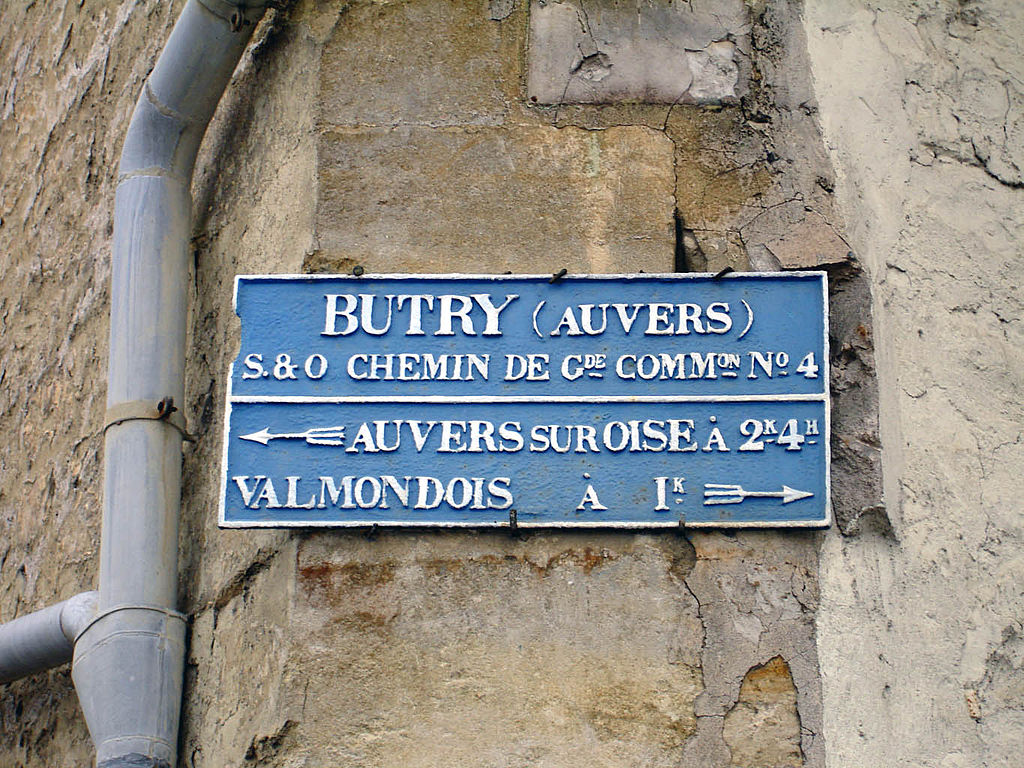 Butry-sur-Oise - Plaque de direction