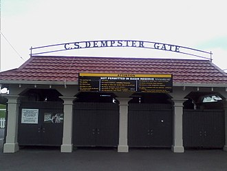 Stewie Dempster - The C.S. Dempster gate to the Basin Reserve, Wellington.