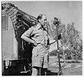 CBC war correspondent Matthew Halton preparing to broadcast in Sicily, Italy, August 20, 1943 Le correspondant de guerre de la CBC Matthew Halton se prépare à entrer en ondes en Sicile (Italie), le 20 août 1943 (9024208729).jpg