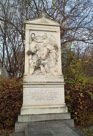 Theophil Hansen - Baron Theophil von Hansen, grave at the Zentralfriedhof, Vienna