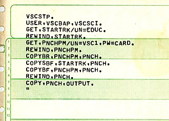 Batch processing - CDC NOS batch file to get the file STARTRK and output it to the card punch
