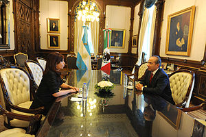 Argentina–Mexico relations - Former Mexican President Felipe Calderón with Former Argentine President Cristina Fernández de Kirchner; 2010.