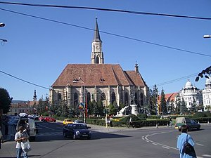 Unirii Square, Cluj-Napoca - Image: CJR Ocatholic