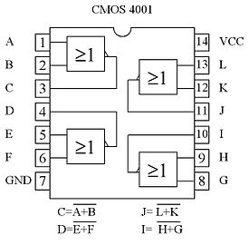 Circuit int gr 4001 wikip dia for Porte logique and cmos