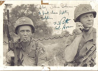 John Bahnsen - COL George S. Patton (L) and MAJ Doc Bahnsen