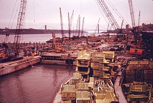 Riverbank State Park - Under construction, 1973