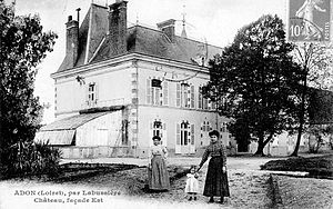 Adon, Loiret - Old postcard of the chateau