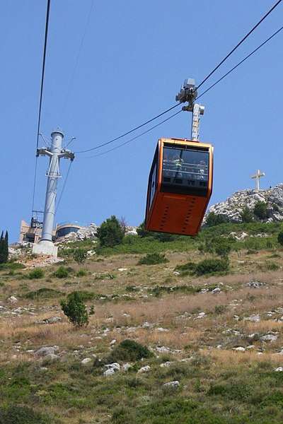 Cable car up Mt Srd. From Highlights of a Dubrovnik Trip