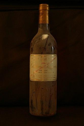 Cadillac AOC - A bottle of Cadillac: Chateau Fayau, 1996
