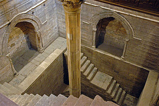 Nilometer structure for measuring the Nile Rivers clarity and water level during the annual flood season