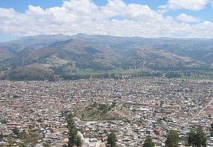Cajamarca - Image: Cajamarca aerial
