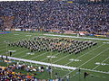 Cal Band performing at halftime at UCLA at Cal 10-16-04 1.JPG