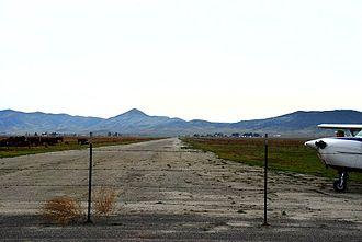 California Valley Airport - C-172 at Tiedown 2/09