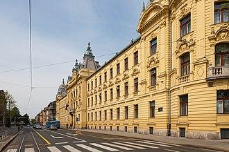 Antun Mihanović - Antun Mihanović Street in the center of Zagreb.