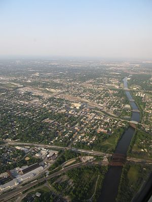 Calumet River - The Cal-Sag Channel navigation canal