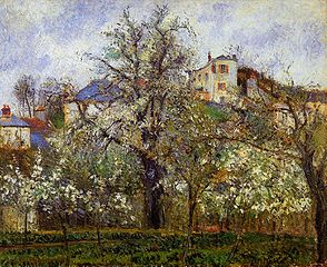 Orchard with Flowering Trees, Spring, Pontoise