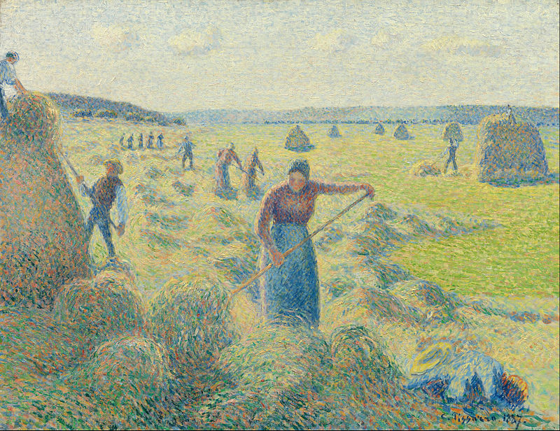Reproduction d'un tableau de Camille Pissarro.