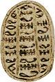 Canaanite - Scarab with Three Columns of Pseudo-hieroglyphs - Walters 4219 - Bottom (2).jpg