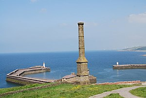 Kells, Whitehaven - The Candlestick Chimney, a ventilation shaft for a coal mine, marks the northern end of Kells