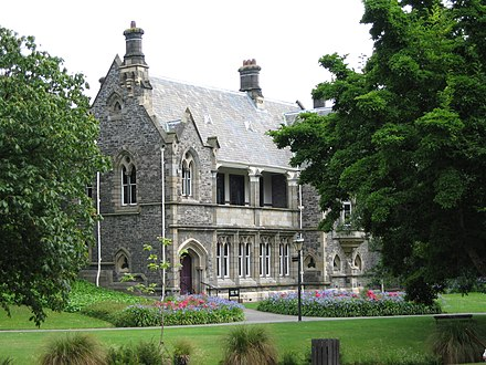 The Canterbury Provincial Council Buildings in Christchurch, designed by Benjamin Mountfort. CanterburyProvincialCouncilBuildings1 gobeirne.jpg