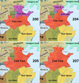 Cao Cao's conquest of northern China 200–207.png