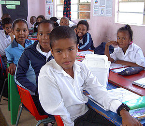Afro-Asians - Cape Coloured school children of South Africa
