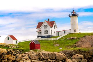 Cape Neddick Light lighthouse in Maine, United States
