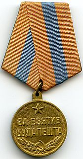 "Medal ""For the Capture of Budapest"" military decoration of the Soviet Union"