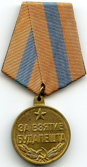 "Medal ""For the Capture of Budapest"" - Image: Capture of Budapest OBVERSE"