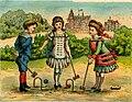 Card depicting children playing croquet (14808310653).jpg