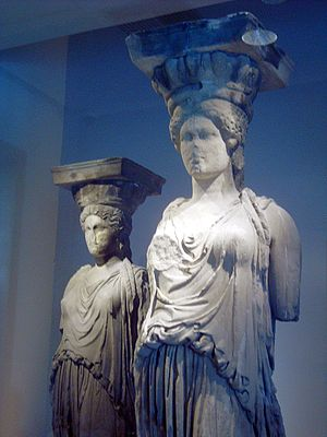 Erechtheion - Original figures in the Acropolis Museum