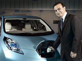Renault–Nissan–Mitsubishi Alliance - Image: Carlos Ghosn Leaf
